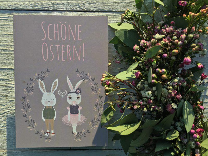 Postkarte, Wunderledetail, Schöne Ostern, frühling, Frühlingsfest, Osterhasenpaar