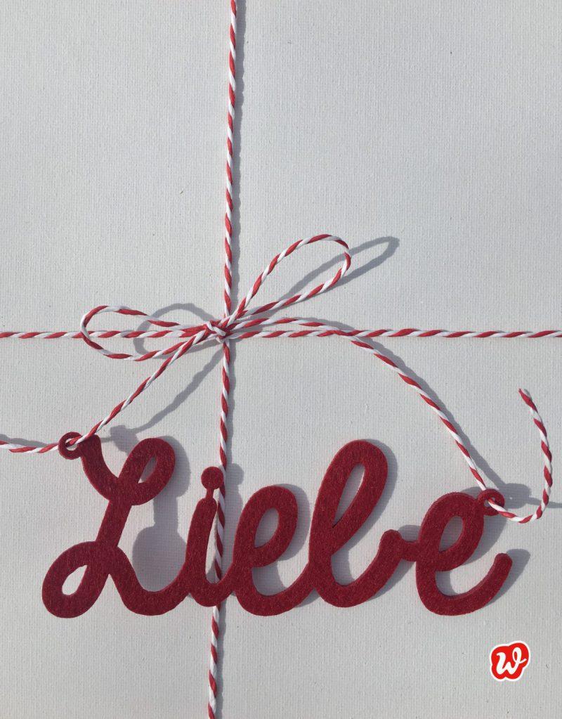 Liebe, Lettering, wichtigste Zutat, Geschenk, Geschenkideen