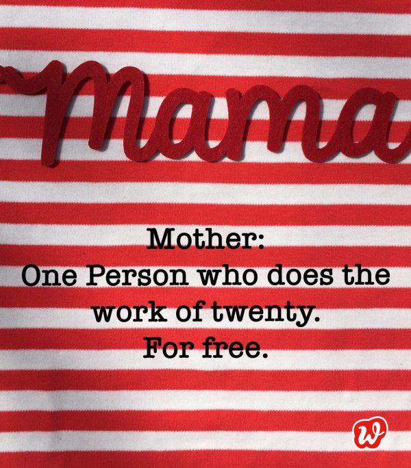 Mama, Muttertag, Quote, Geschenkideen, Definition Mother, Liebe