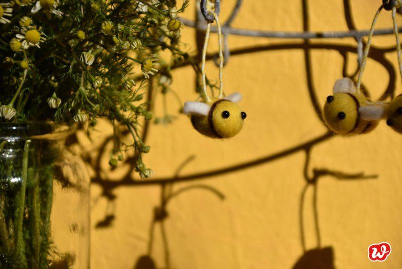 Wunderle, Filzbienen, Reminder, DIY, Save the bees, Bienenrettung, gefertigt in Werkstätten für Menschen mit Behinderung