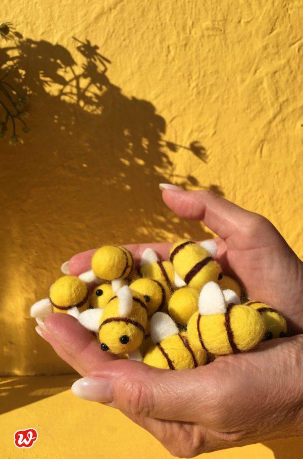 Filzbienen, Wunderle, Save the bees, Reminder, Bienenrettung, Geschenk, Geschenkideen