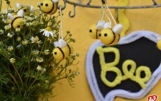Filzbienen, Wunderle, DIY, Geschenkideen, to Bee, Bienenrettung, Weltbienentag 2019, Bienenretter