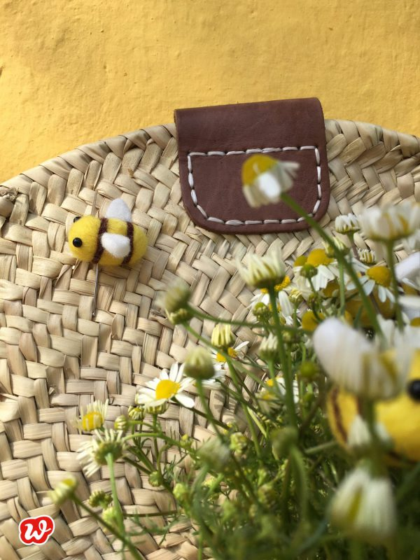 DIY, Filzbienennadel, Save the bees, Reminder, Anstecknadel, Wunderle, Geschenk, Bienenrettung