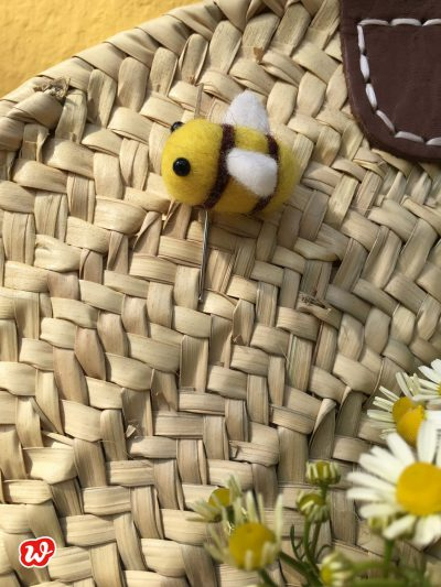 DIY, Filzbienennadel, Save the bees, Bienenrettung, Wunderle, Geschenkideen, gefertigt in Werkstätten für behinderte Menschen