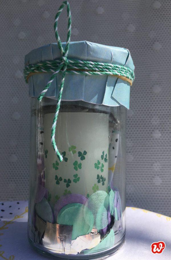 Wunderle, Glück im Glas, Glückslicht, Stimmung, Kerze, Geschenk, gefertigt in Werkstätten für Menschen mit Behinderung