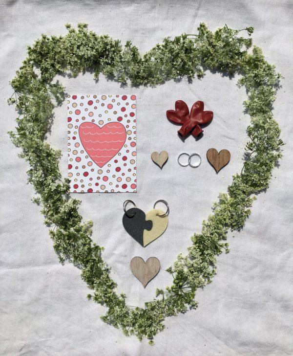 Hochzeitstüte, Wunderle, Geschenk, Geschenkideen, gefertigt in Werkstätten für Menschen mit Behinderung, Liebe, Hochzeit, Ja sagen, sich trauen, Heirat