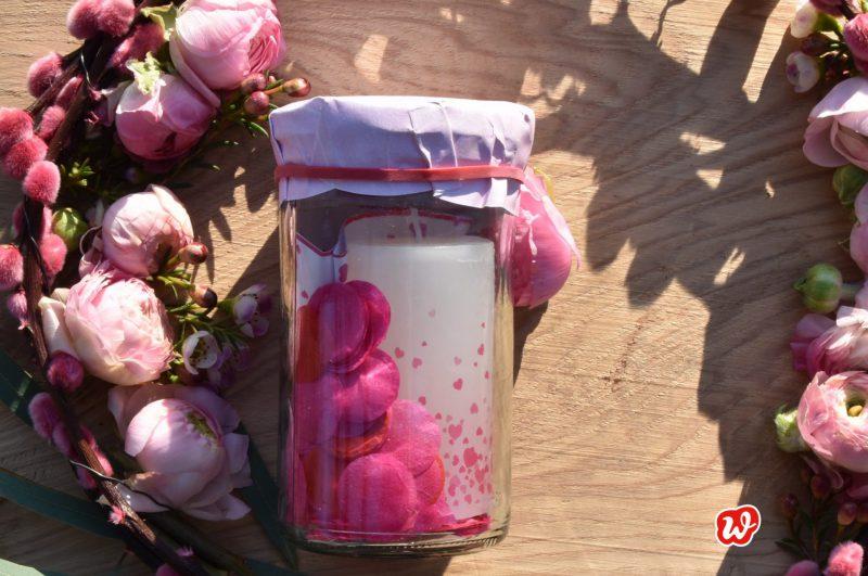 Wunderle, Liebeslicht, gefülltes Glas, Geschenk, Geschenkideen, Kleinigkeiten, gefertigt in Werkstätten für menschen mit behinderung