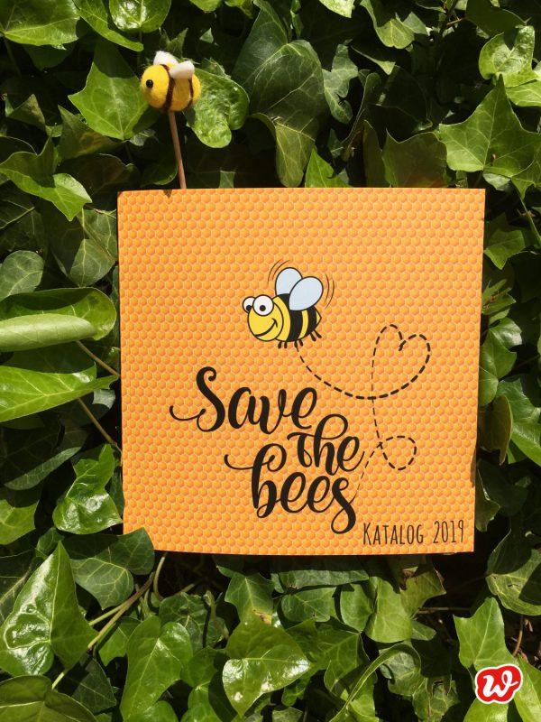Wunderlekatalog, Save the bees, Bienenrettung, Geschenk, geschenkideen, gefertigt in Werkstätten für Menschen mit Behinderung, Bienenretter