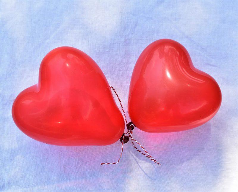 Herzballons, Luftballons, von Herzen, Liebe, Paar, Hochzeit