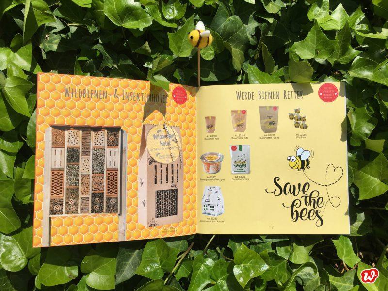 Wunderlekatalog, Save the bees, Geschenkideen, Geschenk, Kleinigkeit, Mitbringsel, Bienenretterprodukte