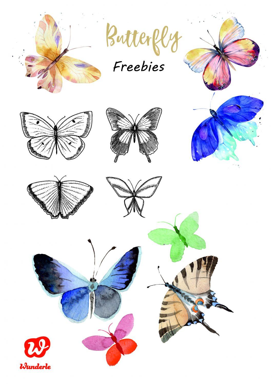 Free Printables, Freebie, Schmetterlinge, DIY, Schmetterlingsgirlanden, Schmetterlinggsgarten