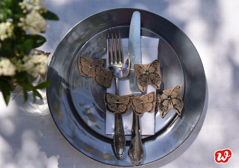 DIY, Schmetterlingsgirlande, Sommer, Tischdekoration, Partyschmücker