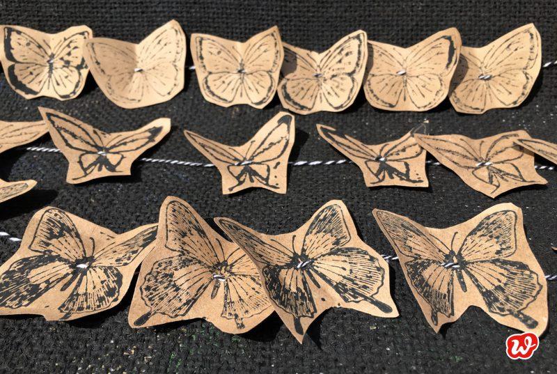 DIY, Schmetterlingsgirlanden, Sommer, Dekoration