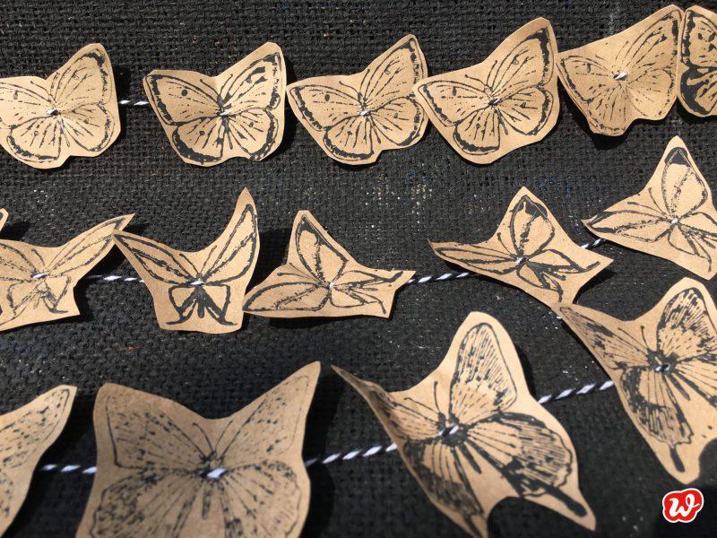DIY, Schmetterlingsgirlande, Sommer, Partyschmücker, Schmetterling du schönes Ding