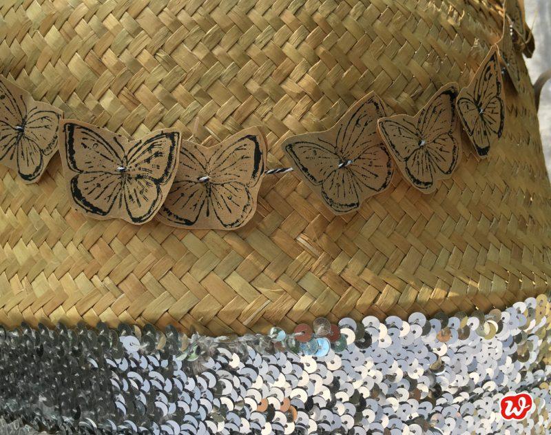 DIY; Schmetterlingsgirlanden, Sommer, Dekoration, Korb, aufgepimpt
