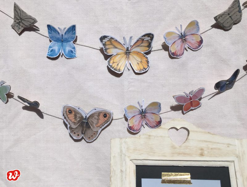DIY, Schmetterlingsgirlande, Free Printables, For Free, Schmetterlingsgarten, Geschenkideen