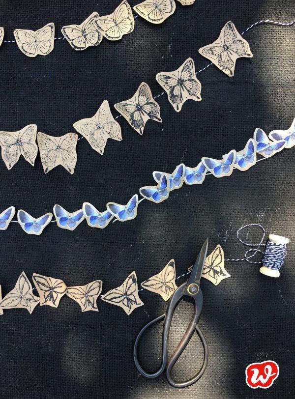 DIY, Schmetterlingsgirlanden, Sommer, Dekoration, Schmetterling du schönes Ding, Partyschmücker