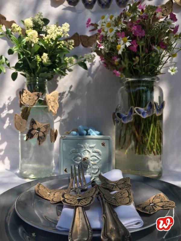 DIY, Schmetterlingsgirlanden, Sommer, Partyschmücker, Tischdekoration