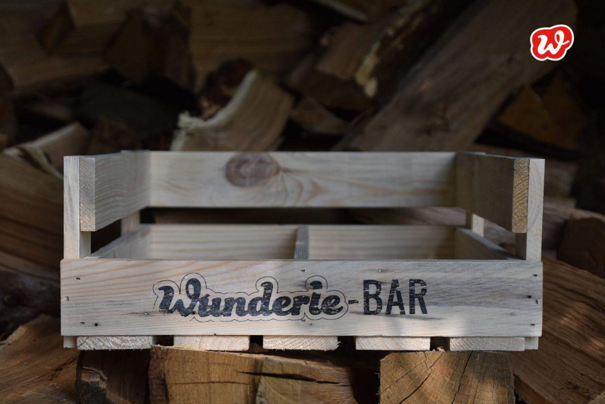 Wunderle-Bar, Neuheit, ökologisch, umweltfreundlich, nachhaltig, Holzdisplay, ideale Präsentation, gefertigt in Werkstätten für Menschen mit Behinderung