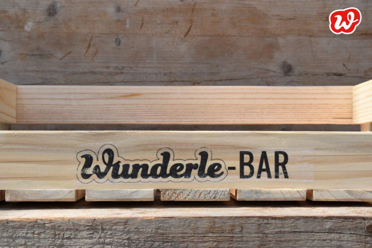 Wunderle-Bar, Neuheit, Wunderle-Display, gefertigt in Werkstätten für Menschen mit Behinderung, ökologisch, umweltfreundlich, weniger Müll