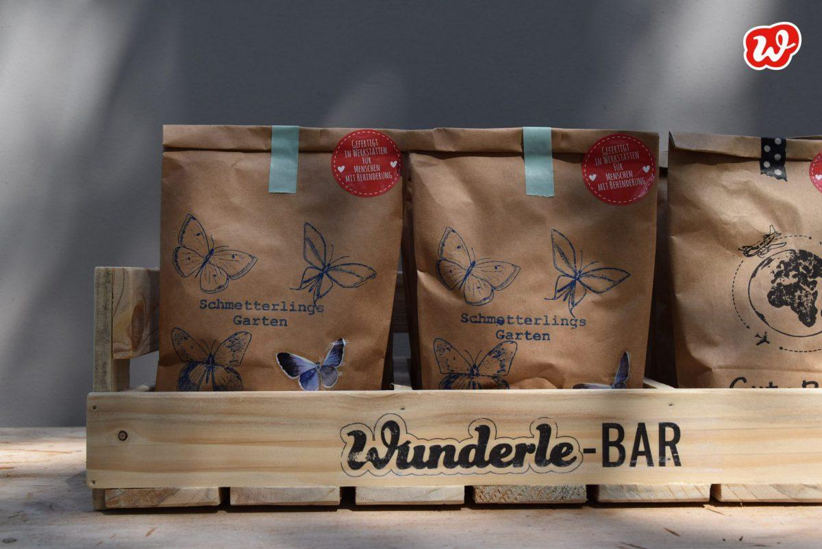 Wunderle-Bar, Holzdisplay, Neuheit, weniger Müll, umweltbewusst, gefertigt in Werkstätten für Menschen mit Behinderung