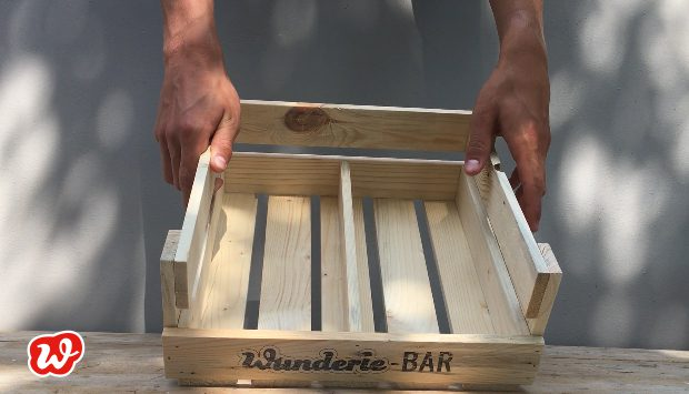 Wunderle-Bar, Holzdisplay, nachhaltig, ökologisch, Präsentation, Neuheit, gefertigt in Werkstätten für Menschen mit Behinderung