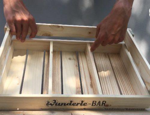 Die Wunderle-Bar! Unsere Neuheit zu den Sommermessen. Weniger Müll produzieren und schön präsentieren!
