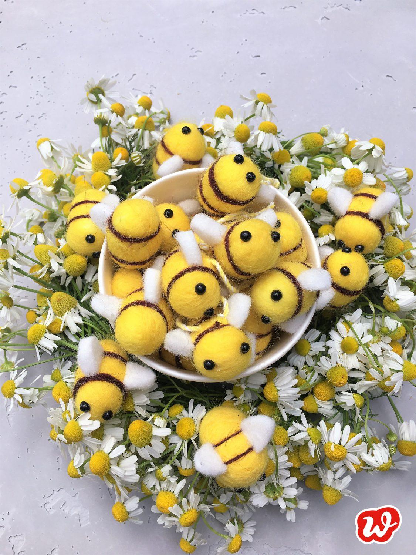 Filzbienen, Bienenrettung, Wunderle Bienenretterprodukte, Kamille, Bienenlieblingsblumen