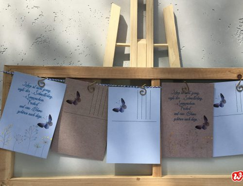 DIY Nr.1, Schmetterlingsgirlande, mit Printable :Butterflies for free