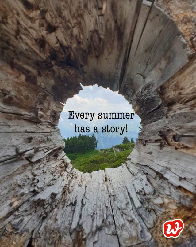 Sommer, Berge, Natur, every summer has a story, Lettering, Berge