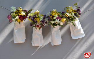 DIY, Girlande, Sommerblumen, Filzbiene, Dekoration, Party