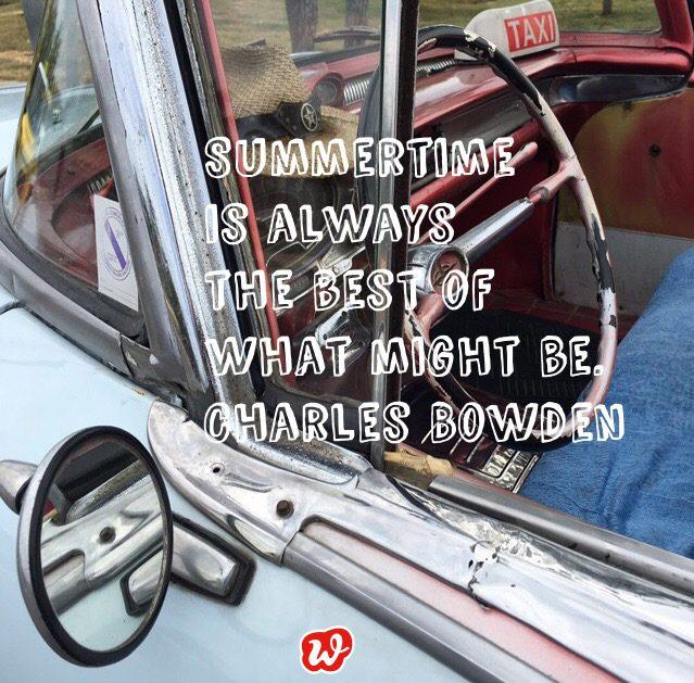 Kubanisches Taxi, Sommerspruch, Lebenslust, Lässigkeit