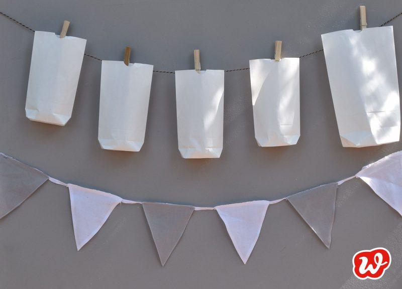 DIY, Papiertütengirlande, Sommer, schnell gemacht, Partydekoration