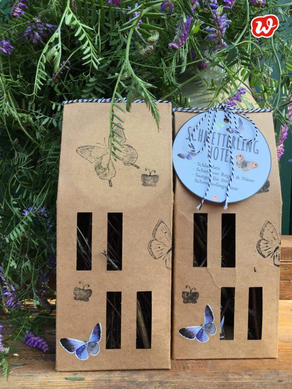 Wunderle Schmetterlinghotel, Insektenrettung, save the butterflies, Geschenk, Geschenkideen, gefertigt in Werkstätten für menschen mit Behinderung, Kleinigkeit, Mitbringsel