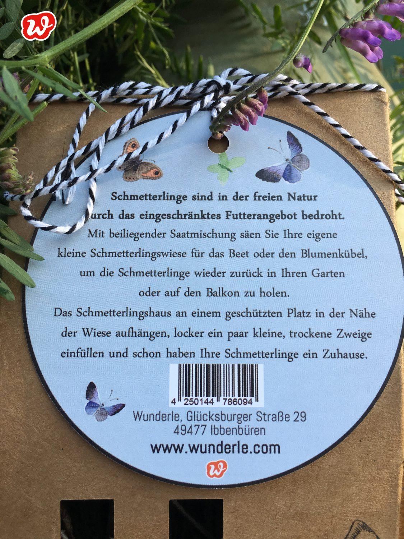 Wunderle Schmetterlinghotel, Insektenrettung, save the butterflies, insektenfreundliche Gärten, gefertigt in Werkstätten für Menschen mit Behinderung, Geschenk, Geschenkideen, Kleinigkeit, Mitbringsel