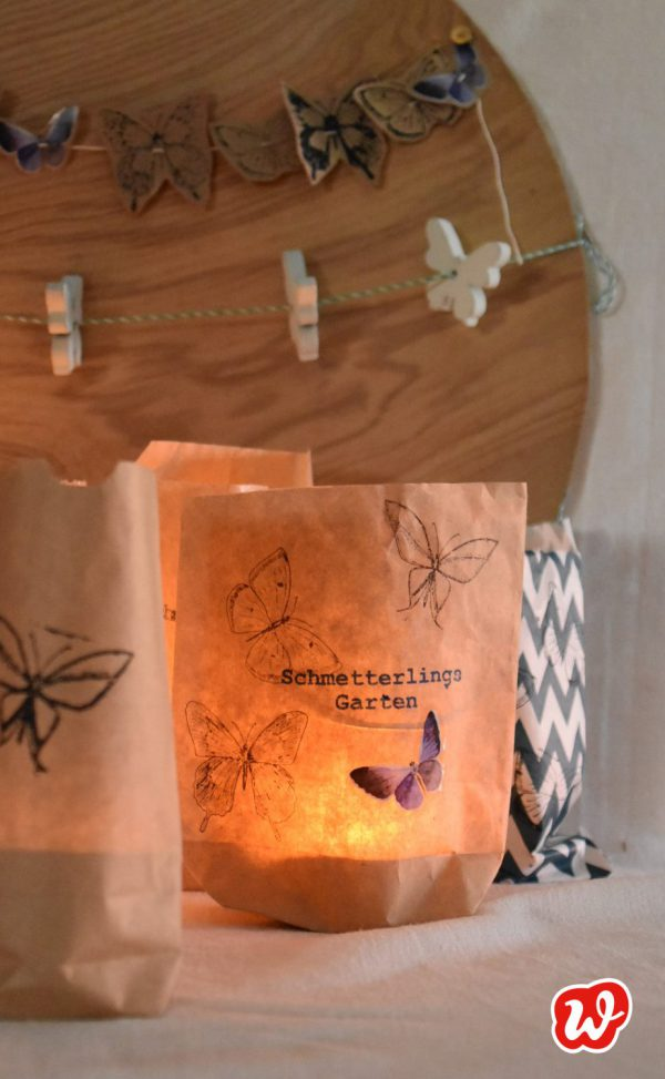 Wunderle, Wundertüten, DIY Lichttüten, Schmetterlingsgarten, Sommer, Partydekoration