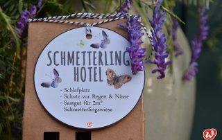 Wunderle, Schmetterlinghotel, Insektenrettung, save the butterflies, Geschenk, Geschenkideen, gefertigt in Werkstätten für Menschen mit Behinderung