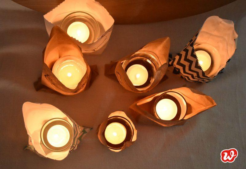DIY, Lichttüten aus Wunderle Wundertüten, Partydekoration, Sommer