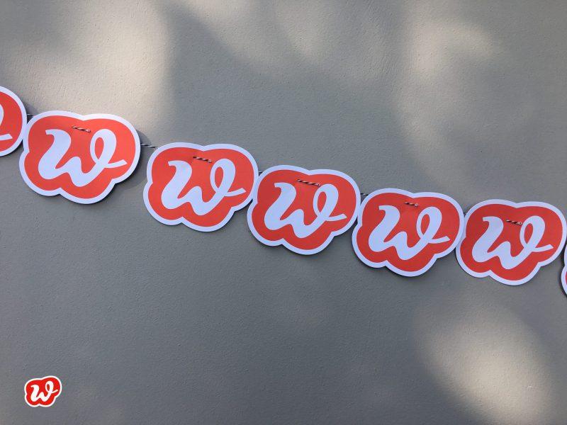 Wunderle-Logo, Girlande, schnell gemacht, DIY
