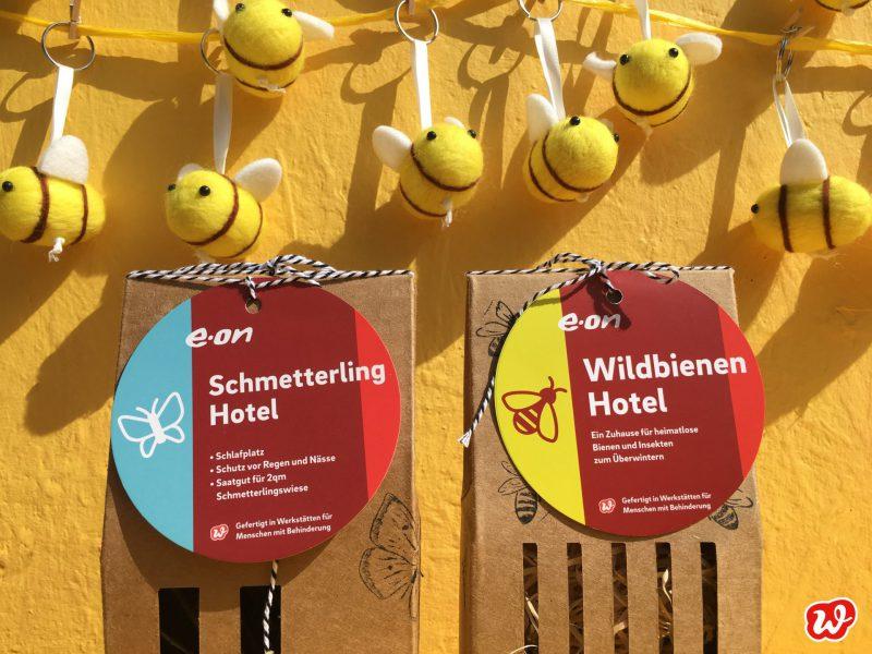 Eon, Schmetterling- und Bienenhotel, individualisiertes Werbegeschenk, was eigenes, Insektenrettung, Filzbienen