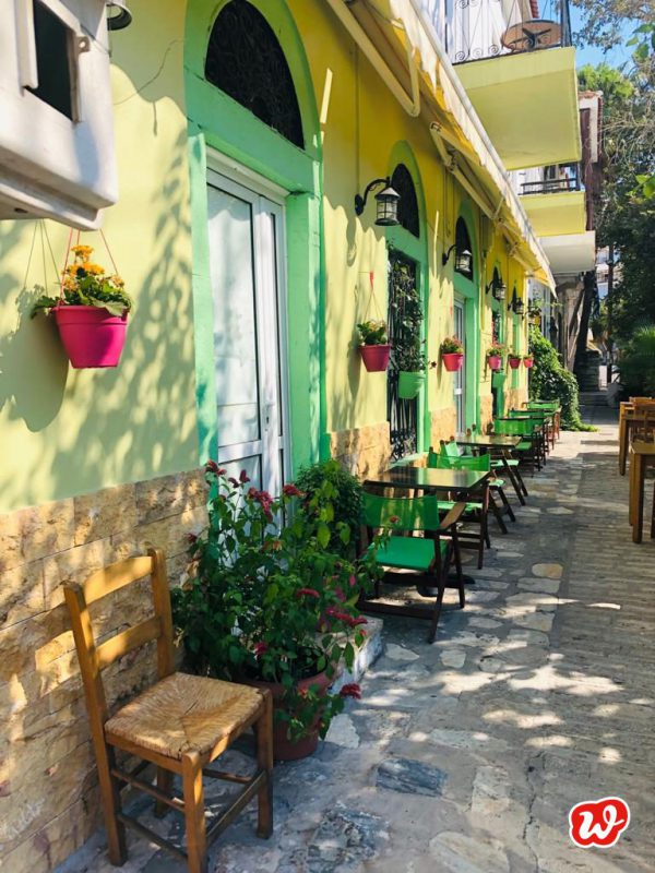 Gelbe Häuser, Samos, Griechenland, Urlaub, Sommer