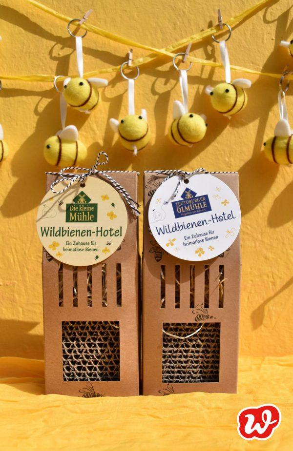Bienenhotels, Teutoburger Ölmühle, individualisierte Werbegeschenke, was eigenes, eigenes Hangtag, Verantwortungdbewusstsein