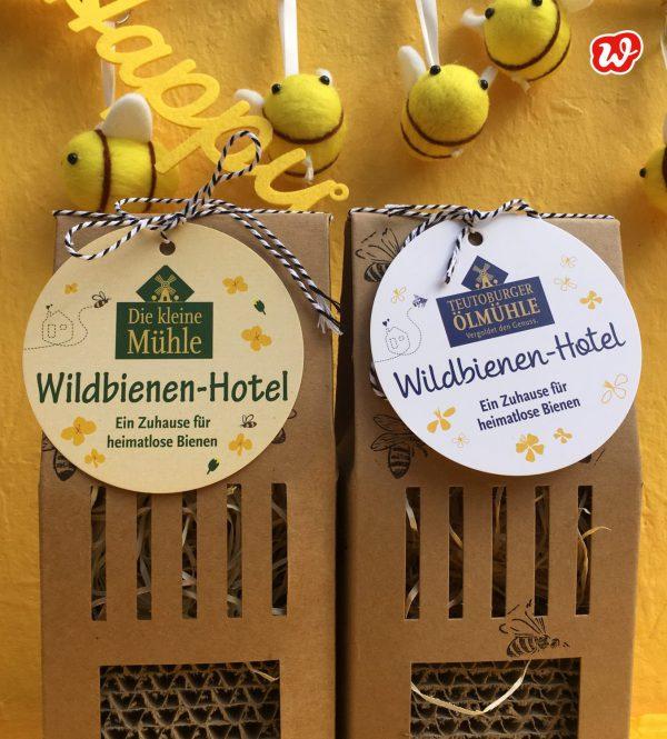 Wildbienhotels, was eigenes, individualisierte Werbegeschenkenke, Teutoburger Ölmühle