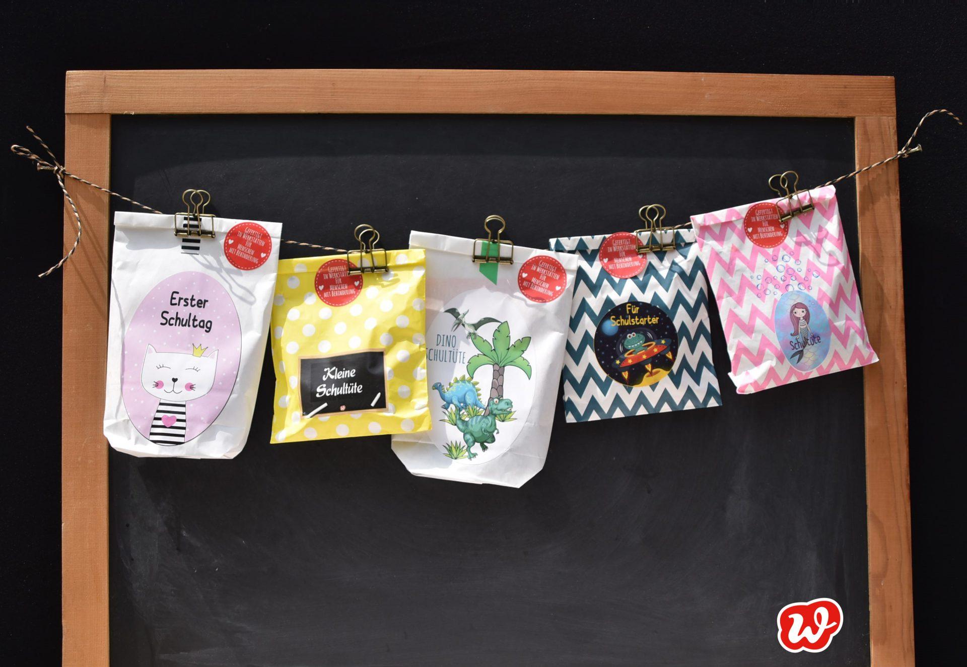 Wunderle Schultüten, Schule kann beginnen, Geschenkideen, Geschenke, gefertigt in Werkstätten für Menschen mit Behinderung