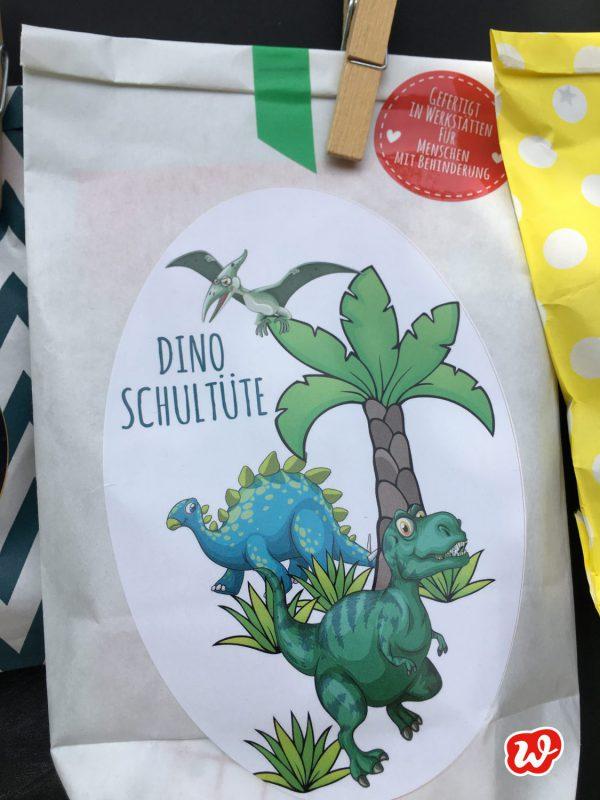 Dino Schultüte, Wunderle Schultüte, Geschenk, Einschulung, Geschenkideen, gefertigt in Werkstätten für Menschen mit Behinderung, Kleinigkeit