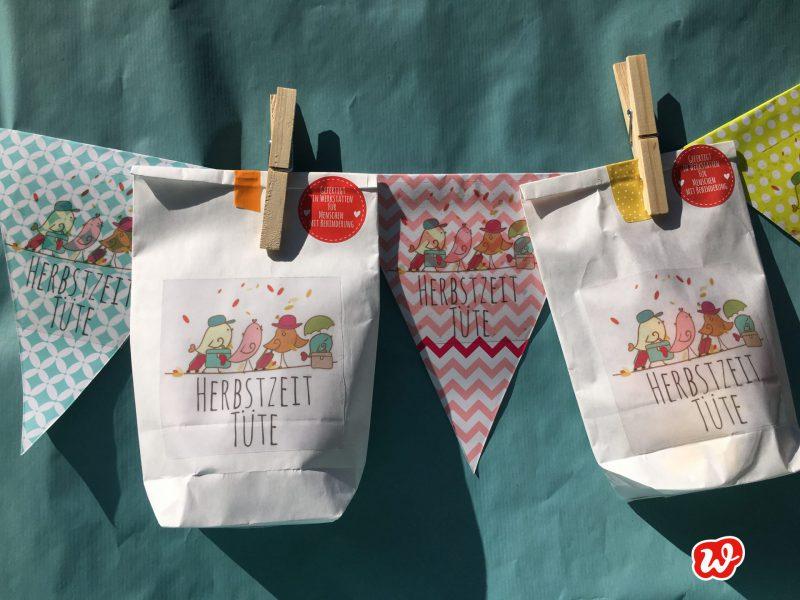 Wunderle, Wundertüte, Herbstzeittüte, Geschenk, Geschenkideen, gefertigt in Werkstätten für menschen mit Behinderung, Mitbringsel