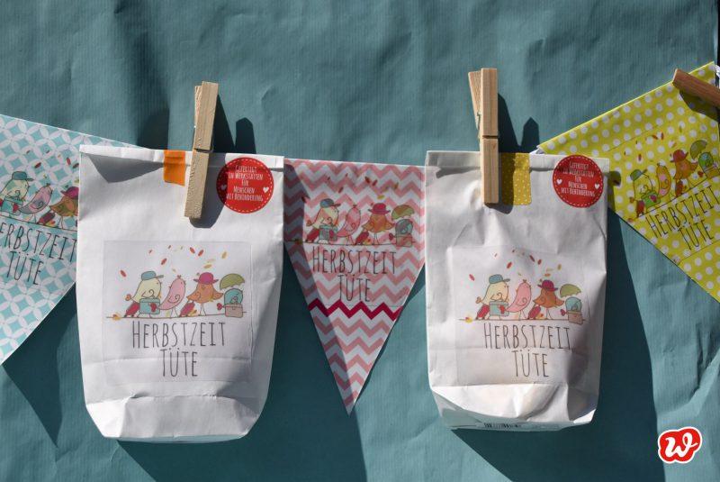Girlande, Herbstzeittüte, Herbst,Geschenkideen, gefertigt in Werkstätten für menschen mit Behinderung, Mitbringsel