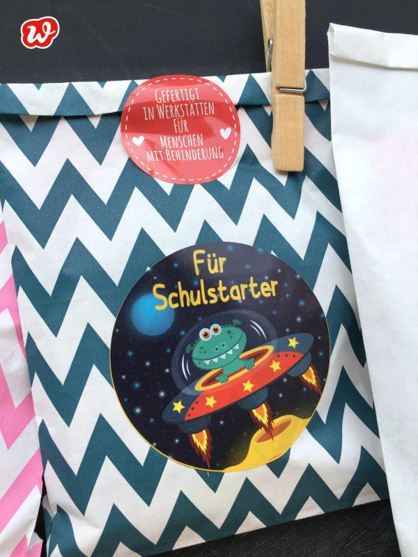 Für Schulstarter, Wunderle Schultüte, Schulanfang, Geschenkideen, Kleinigkeit, gefertigt in Werkstätten für Menschen mit Behinderung