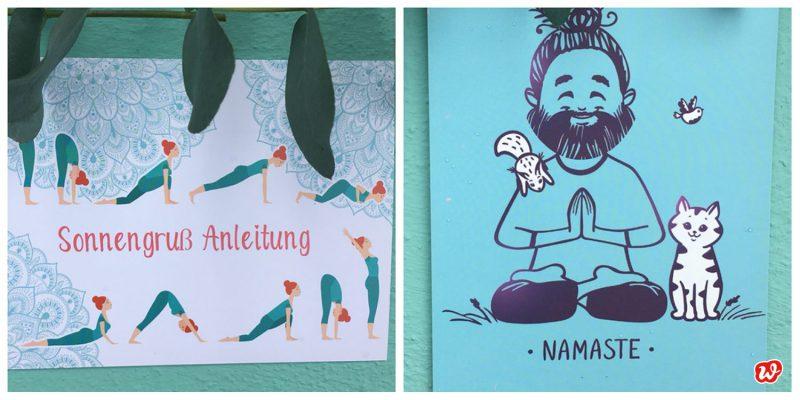 Türkise Wunderle Sonnengruß-Postkarte