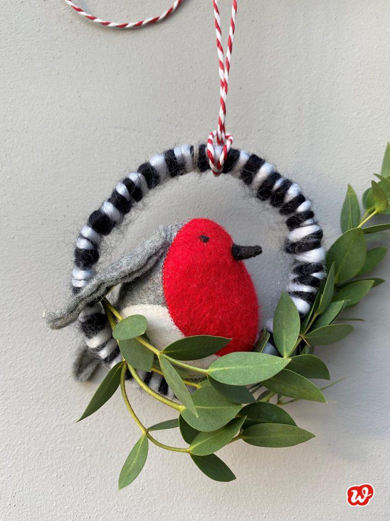Wunderle DIY, Weihnachtskranz, Weihnachten, Advent, Vogel, Vogelfreund